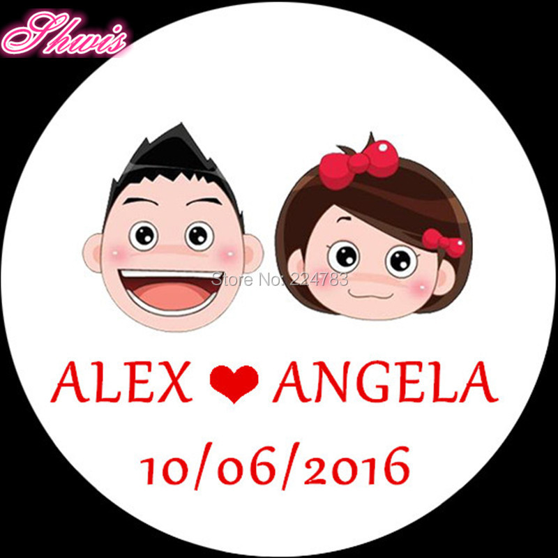 100pcs Personalized Wedding Stickers Wedding Self Adhesive Stickers