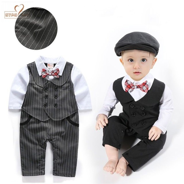 NYAN CAT Baby boy clothes gentleman bow tie romper outfit Long sleeves  toddler jumpsuit baby boys 419e335d9fa9