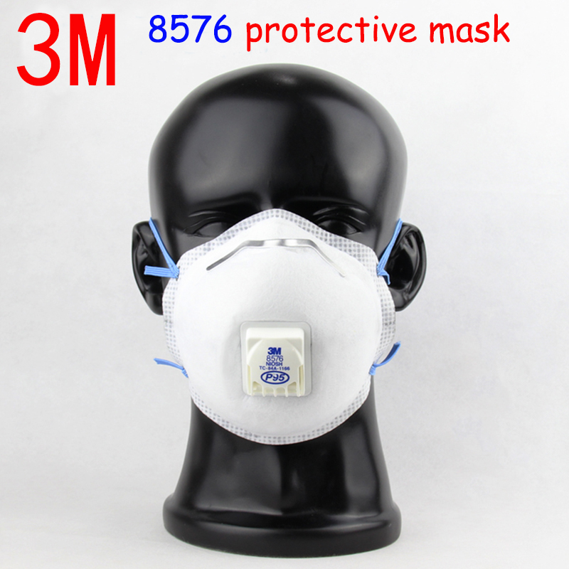 3M 8576 respirator mask With a breathing valve gas mask Activated carbon Filter layer against Acid gas formaldehyde filter mask 2017 new arrival hot selling respiration valve industrial gas masks activated carbon filter safety mask labor protection