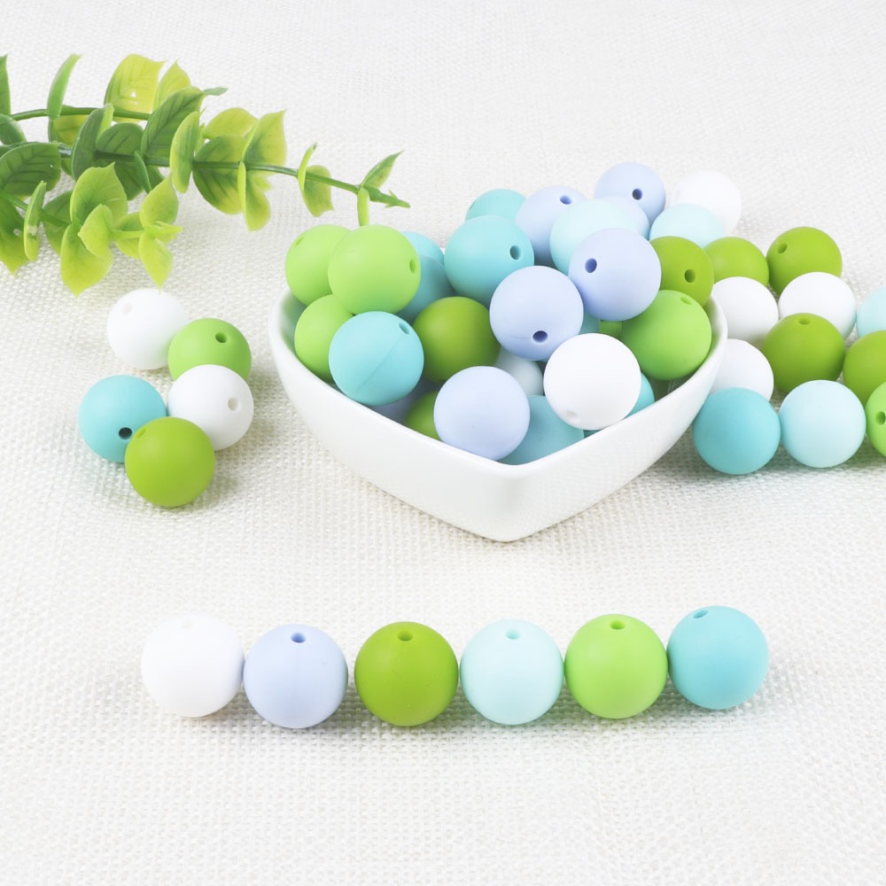 BOBO.BOX 12mm Silicone Beads 10Pcs Round Food Grade Material For DIY Baby Teething Necklace Nursing Baby Teether
