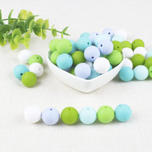BOBO.BOX 12mm Silicone Beads 10Pcs Round Food Grade Material for DIY Baby Teething Necklace Nursing Baby Teether(China)