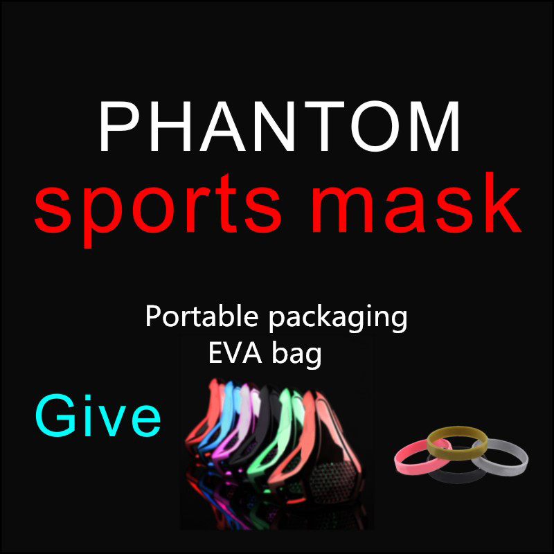 Phantom Training Fitness Mask MMA High Altitude Resistance Outdoor Sport Running Body Building Gym Equ EVA Portable Package newest pt training sport mask sliver model for mma sport gym training of mask 2 0