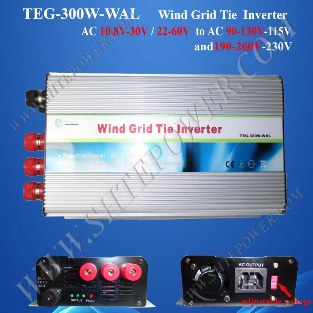 300w grid tie inverter wind Dump Load controller 3 phase ac input 10.8-30v to ac 110v 120v / 220v 230v switching