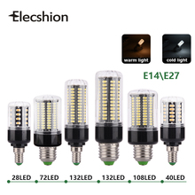 E27 E14 LED corn lamp AC220V 110V SMD5736 BULBs 3W 5W 7W 8W 12W 15W Spotlight 48 40 72 108 132 156leds AC85-265V lampada light