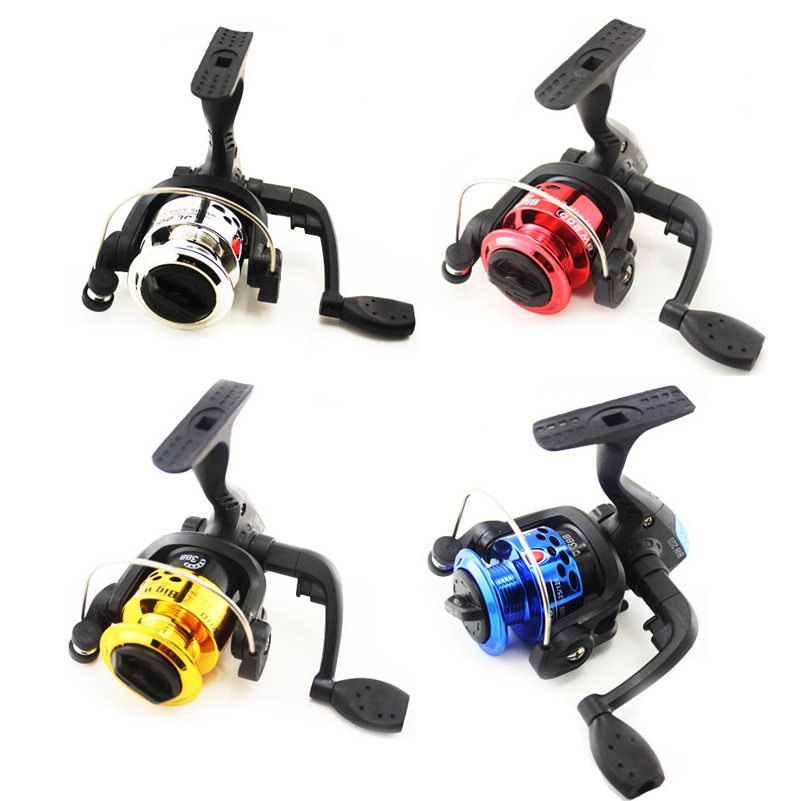 6 Color Mini Spinning Fiskehjul 3BB 5.1: 1 Plating Line Cup Carp Fishing Hjul Spinning Reel Small Fish Reel