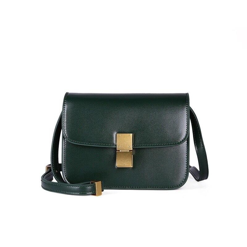 New fashion leather 100% real cowhide tofu bag women handbag multiple colors free shipping