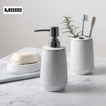 Bath Accessories Bathroom Set Ceramic Toothbrush Holder Soap Dish Lotion Dispenser 3PIC/Set Liquid Soap Dispenser Simple Design newest 5 pcs resin bathroom accessories sets lotion dispenser toothbrush holder soap dish 2 tumbler sets 2017