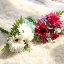 Klonca Luxury Hot Sale Silk Flower 29cm 1pc Artificial Fake Gerbera Bouquet for Wedding Home Decor