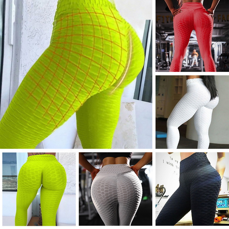 10colors Hot Women Yoga Pants Sexy White Sport leggings Push Up Tights Gym Exercise High Waist Fitness Running Athletic Trousers 3