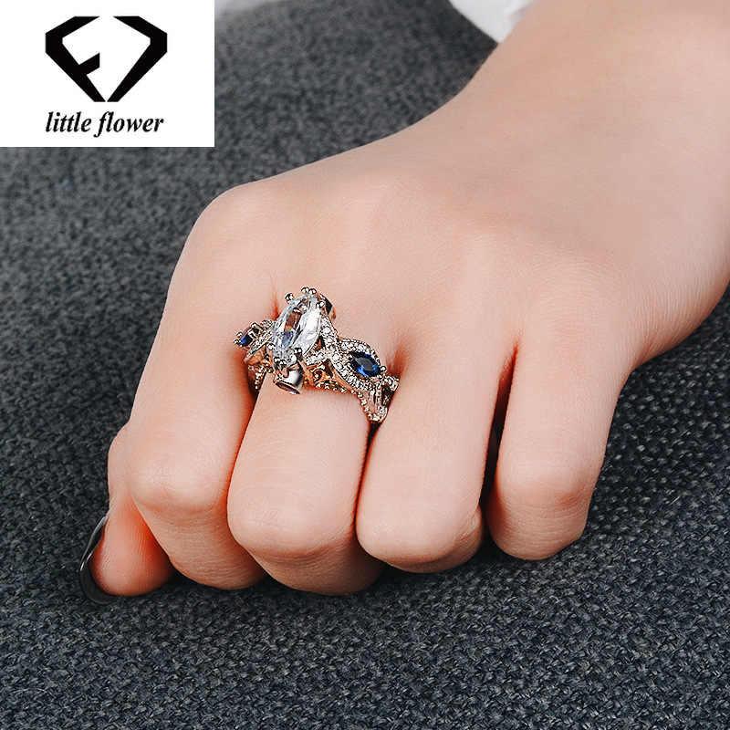 Инкрустированное синее сапфировое кольцо из кианита с бриллиантами 14 k золотого цвета Anillos De Amethyst Bizuteria Bague или Jaune кольцо с диамантами Dropshopping