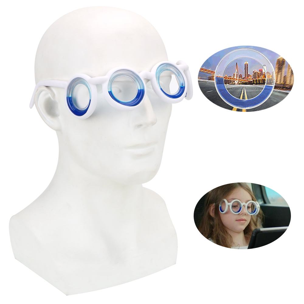 LEEPEE Anti-motion Sickness Glasses Lens-Free Folding 1pc Unisex Smart Seasick Airsick Liquid Glasses Removable Portable