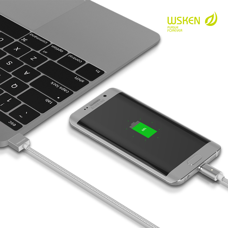 Wsken X cable Mini 2 Metal Magnetic Charging Cable Charger For ...