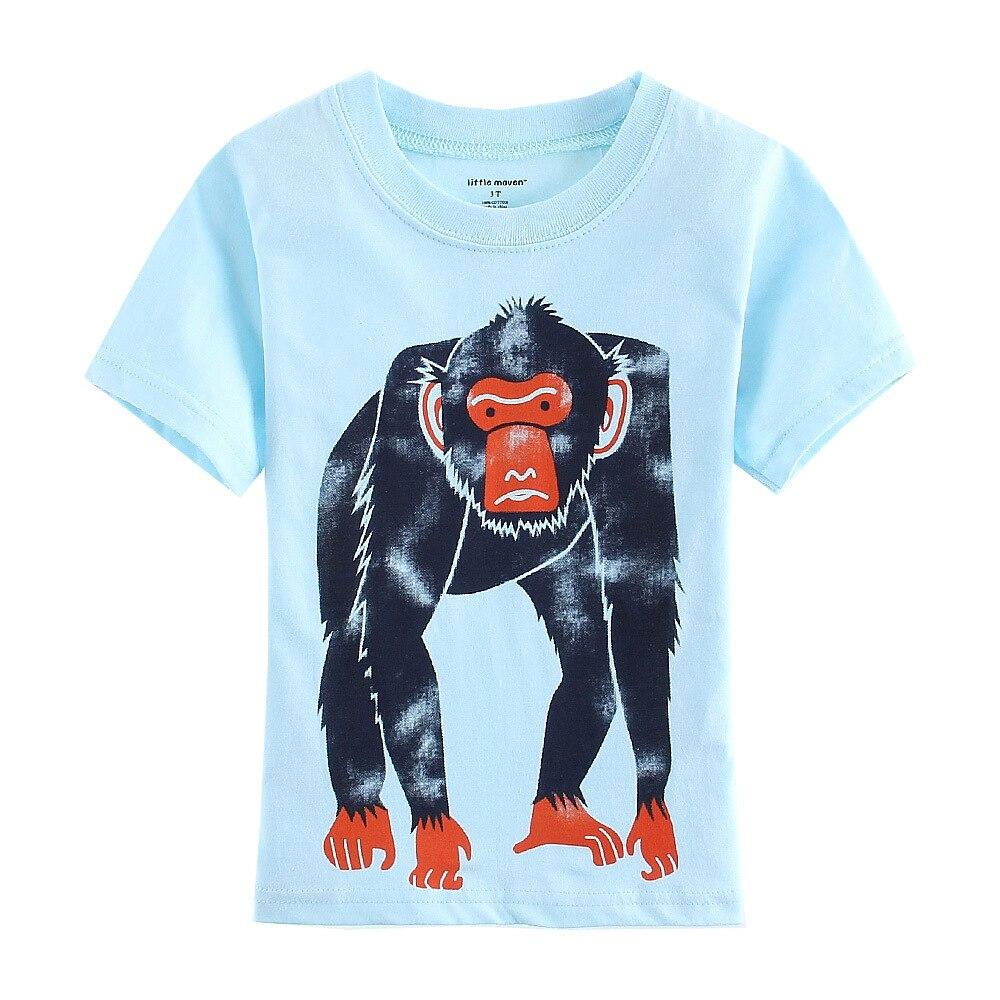 Apes T-Shirts Boys Blue Monkey Jersey Gorilla Fashion Children T Shirt Outfits Summer 2016