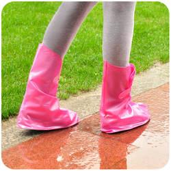 Лолита Мода мужчины Женщины непромокаемые ботинки покрывают регулируемый плоский каблук туфли на высоком каблуке непромокаемую обувь