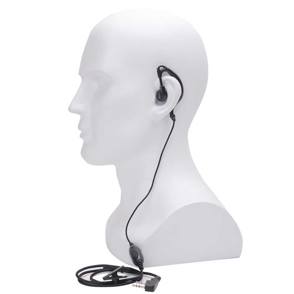 Dua Cara Radio HAM Earpiece untuk Baofeng BF-888S UV5R Walkie Talkie 992 Earwear Unilateral Headphone Earphone K-Plug Kabel headset