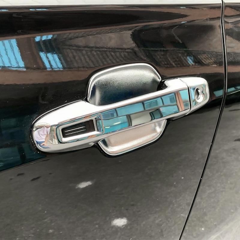 QHCP 4Pcs//Set Car Exterior Door Handle Bowl Cover Trim Frame Decor Stickers Exterior Accessories Small