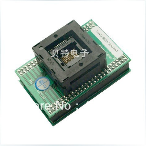 SA642A-B032A-Y096F001Y test socket adapter convert burn 0.8mm original plcc44 to dip40 block adapter block cnv plcc mpu51 test convert burn