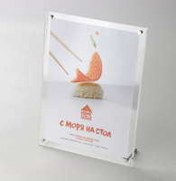 A4 12 inch Square acrylic rose din table tablet showing display stand menu photo poster label sign holder frame holder rack