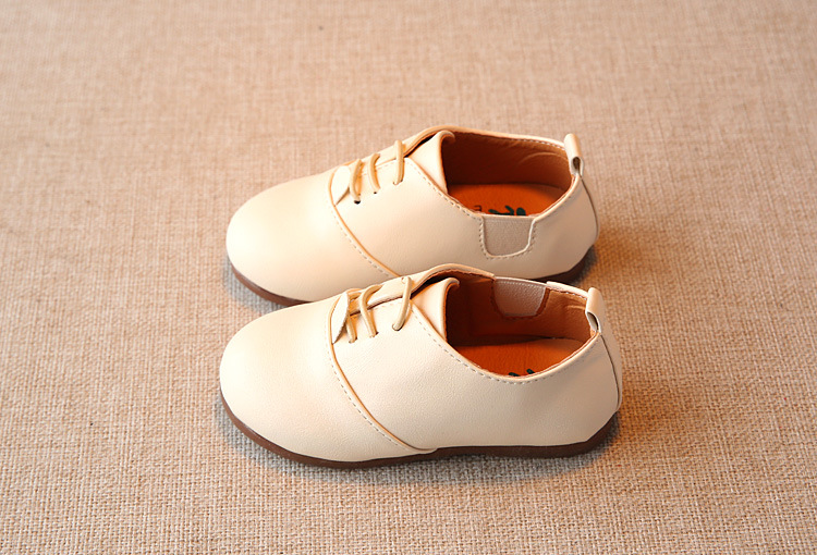 Spring Children Casual Shoes Baby Boys England Style Leather Shoes Girls Soft Bottom Shoes Kids Flats High Quality Sneakers C243 9
