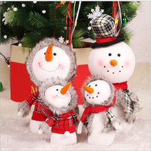 2017 Natal Christmas Snow Man Doll Figurine Toy Christmas Decorations For Home Children Christmas Gift