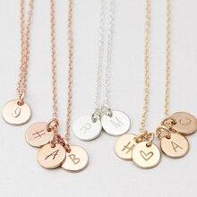 925 Chữ Bạc Đồng Tiền Vòng Cổ Handmade Hoa Hồng Vàng Choker 7Mm Mặt Dây Collier Femme Kolye Collares Trang Sức Riverdale
