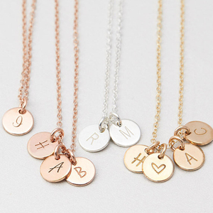 Image 1 - 925 Silver Letters Coins Necklace Handmade  Rose Gold Choker 7mm Pendant Collier Femme Kolye Collares Jewelry Riverdale