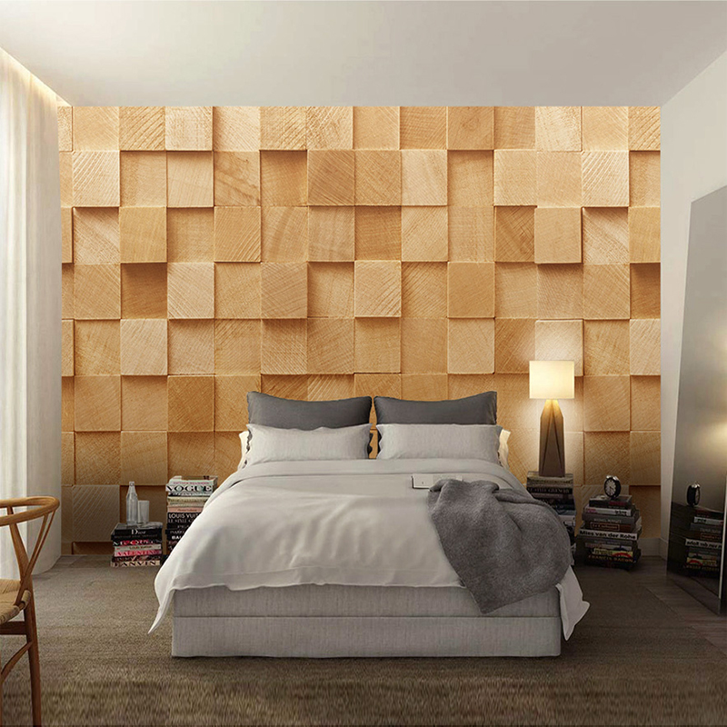 Modern Simple 3D Stereo Yellow Square Geometry Photo Wallpaper Bedroom  Living Room Abstract Art Style Interior Decor Wall Papers In Wallpapers  From Home ...