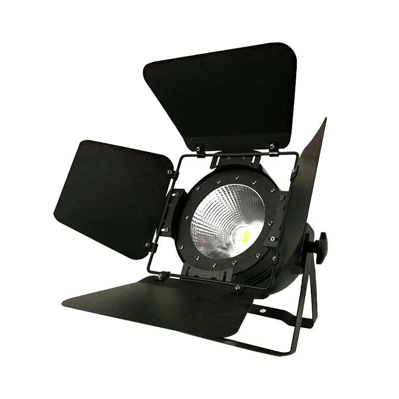 LED Par COB 100 W RGBW 4in1 Avec Grange Portes Haute Puissance Boîtier En Aluminium Éclairage de Scène avec 100 W COB, blanc froid et blanc chaud