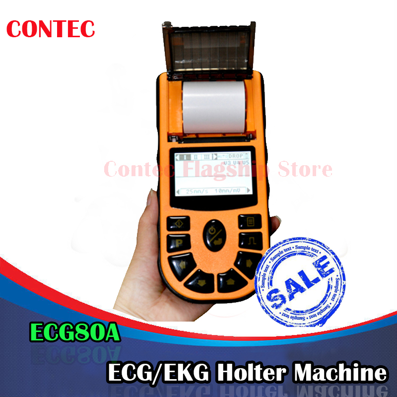 CE&FDA Handheld ECG/EKG machine 12-Leads Single-Ch+Software+Printer&Paper,ECG80A heart monitor holter Medical equipment health care ce easy handheld ecg ekg portable mini pc 80b lcd heart ekg monitor continuous measuring function usb