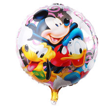 Shipping 18inch Donald Duck & Mickey Balloons Happy Birthday ballons Baby Shower globos(China)