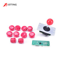 Handle Arcade Set Kits 24mm/30mm Push Buttons 5 Pin Joystick Replacement Parts USB Cable Encoder Board To PC Joystick&Button(China)
