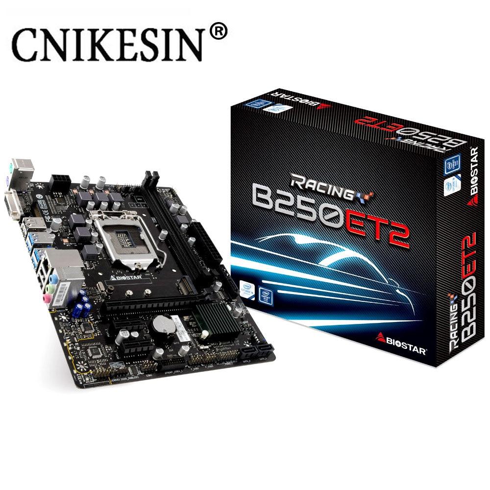 CNIKESIN New Motherboard B250ET2 1151 M ATX Racing Computer DDR4 M 2 2PCI Ex16 10Gigabit Network