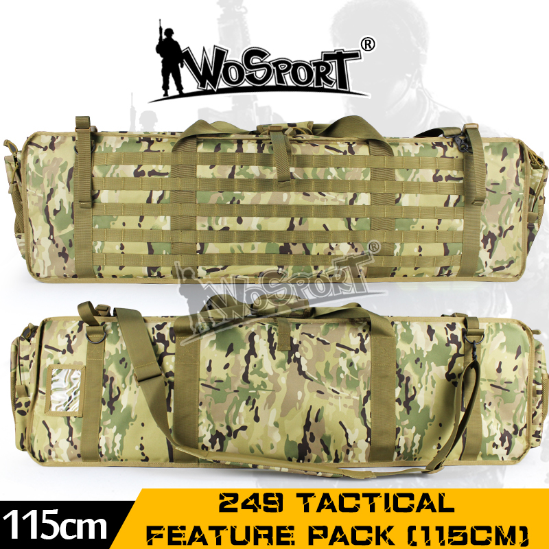 WoSporT High quality Tactical Gun Bag Sport Feature camo Outdoor Military Army Hunting Airsoft Nylon Rifle 115CM Functional Pack ww2 china army leather hunting submachine gun 10 clips folder pouch bag package cn 104125