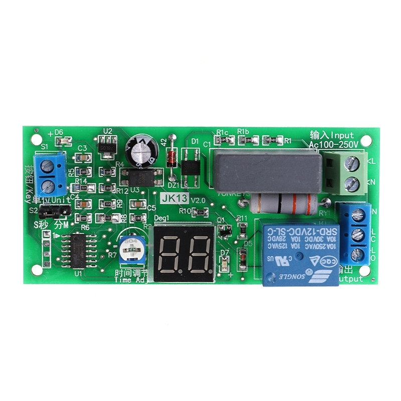 US $3 54 16% OFF|OOTDTY AC220V Delay Timer Switch Turn Off Board 0 Seconds  99 Minutes Delay Relay Module-in Relays from Home Improvement on
