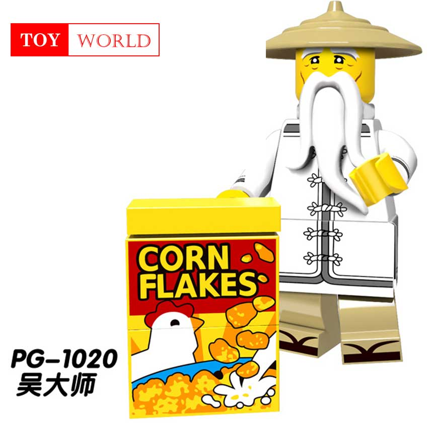 Ninjago Film Maître Wu Lord Garmadon Flashback Nya Shark Armée pêcheur  Grand Blanc N-POP Fille Compatible Avec LegoING Mini Homme z2 ed92805713f