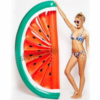 Inflatable Giant Pool Float Mattress Toys Beach Swimming Ring Sea Party watermelon swimming ring 1pc