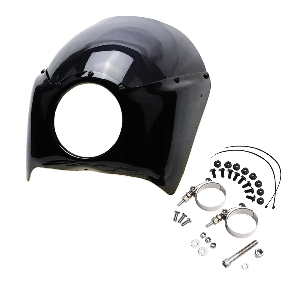 все цены на Motorcycle Headlight Fairing Mask Windshield Headlamp Mask Visor For Harley Dyna 2006-2016 онлайн