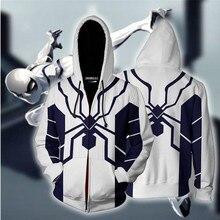 Spiderman Edge of Time Hoodie Cosplay Costume Spider Man Anime Sweatshirts Men Women College New