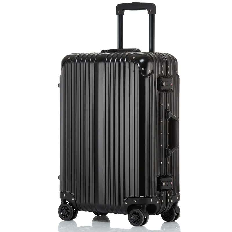 Aluminum Rolling Luggage, 2024 inch Crash Proof Truckle Suitcase,Castor Lock Trolley Travel Luggage Koffers Bag Carry On Cabin