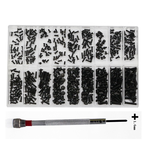 500Pcs 18 Kinds of Small Stainless Steel Screws Electronics Nuts Assortment for Home Tool Kit Used for watch laptop repair