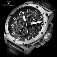 PAGANI DESIGN Chronograph Sports Watches Men Leather Quartz Watch Luxury Brand Waterproof Military Wistwatch Relogio Masculino