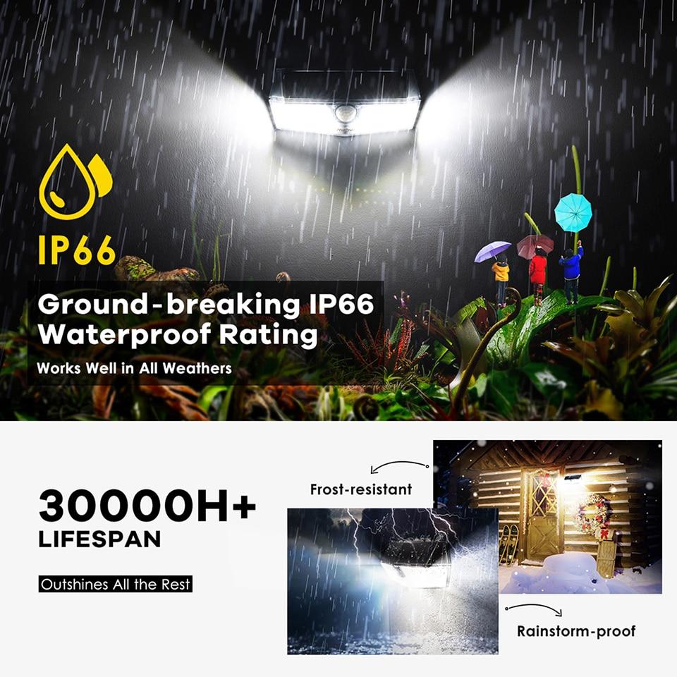 Mpow CD174 3 Adjustable Light Model 66 LED Bright Solar Powered Outdoor Lights (3)