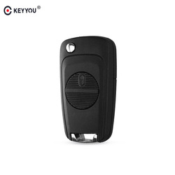 KEYYOU 2 BUTTONS REMOTE FLIP FOLDING KEY SHELL FOB CASE COVER FOR NISSAN MICRA ALMERA PRIMERA XTRAIL FREE SHIPPING