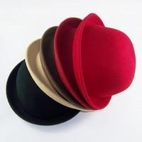Little Girls Wool Hats Kids Caps Children Fedora Hat Girl S Wool Bowler Top Hat 100