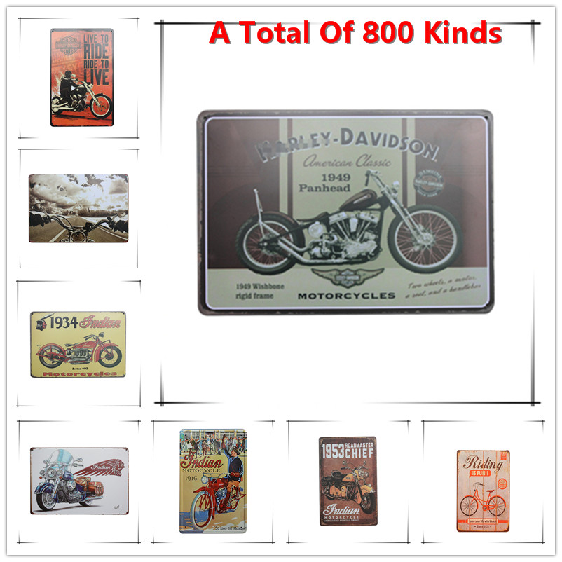 Chic Home Bar HD moto Vintage Metal Signs Home Decor Vintage Tin Signs Pub Vintage Decorative Plates Metal Wall Art