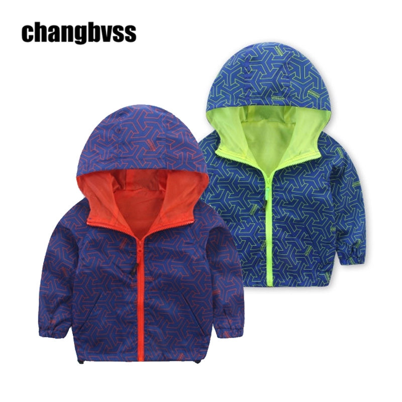 Kids Toddler Boys Jacket Coat Children Hooded Windbreakers Outwear Kids Hooded Jackets Spring Autumn Boys Clothes