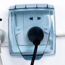Пластиковый настенный выключатель, водонепроницаемый чехол, 86 Тип, настенная световая панель, розетка, дверной звонок, откидная крышка, прозрачная ванная комната, кухонные аксессуары