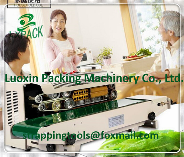 LX-PACK Lowest Factory Price Horizontal automatic bag sealing machine continuous heat sealer plastic aluminium foil pvc bag film  lx pack lowest factory price fully automatic weighing package machine medicinal food sealer tea coffee sugar spice bag 1 25gram