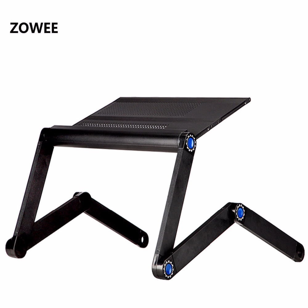 Adjustable Portable Laptop Table Stand Lap Sofa Bed Tray Computer Notebook Desk bed table ZW CD07