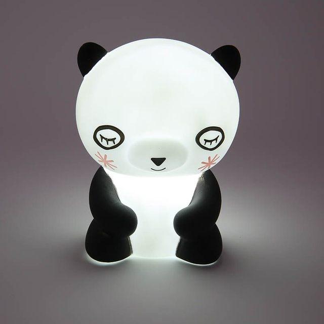 Sleep Led Kid Lamp Bulb Cute Panda PVC Plastic Nightlight Children Baby  Bedroom Lamps Night Light